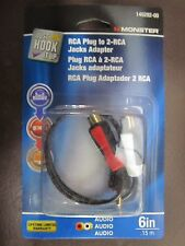 "Monster RCA Adapter Cable 6"" Long  #140292-00    NEW"