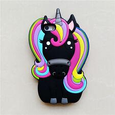 3D Cartoon Rainbow Unicorn Silicone Phone Case Cover For iphone 5/SE/6S/7/8 Plus