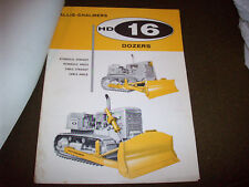 1966 Allis-Chalmers HD 16 HD 11 Dozers Spec Sheets & Letter for Custom Blade