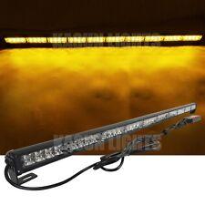 "43.7"" 40 LED FLASHING LIGHT BAR TRAFFIC ADVISOR EMERGENCY WARNING STROBE AMBER"