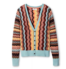 NWT Missoni for Target Zig Zag Long Sleeve Button Front Cardigan Sweater Small