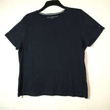 NAVY BLUE LADIES CASUAL STRETCHY TOP SIZE L BONMARCHE