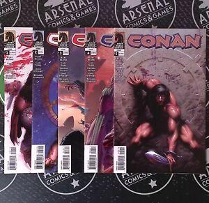 Conan #1 2 3 4 5 2004 Dark Horse Comics Set Busiek Nord Stewart 1st Print NM