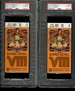 2 Super Bowl VIII 1974 Ticket Stubs PSA Authentic Free S/H to U.S.