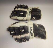 Vintage Cooper BDV Armadillo Thumb Ice Hockey Gloves Roller Retro Black White
