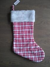 New with tags Makers Holiday Red and white plaid Stocking