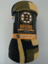 NWT Boston Bruins Licensed NHL Hockey Super Plush Throw Blanket