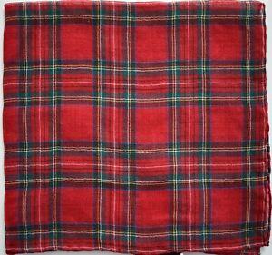 🆕️ Authentic GUCCI CARCHECK Printed WOOL SILK Pocket Square Handkerchief