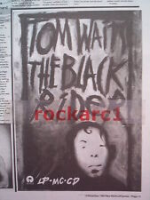 TOM WAITS THE BLACK RIDER 1993 UK Poster size Press ADVERT 10x8""