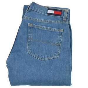 Tommy Hilfiger Women's Jeans Denim Boot Cut Blue Cotton Pocket VINTAGE Zip 7/33