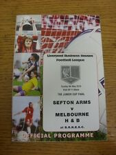 09/05/2010 Liverpool Business Houses League Junior Cup Final: Sefton Arms v Melb