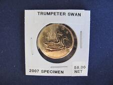 2007 Canada Loon Dollar Trumpeter Swan Specimen  E5874