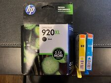 HP #920XL Black Ink Cartridge + Bonus 920 Yellow & 920 Blue