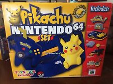 Nintendo 64 N64 Pikachu Pokemon Blue Yellow Console Limited Edition New in Box