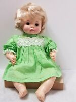 "VINTAGE 1969 EFFANBEE 18"" BLONDE CRYING BABY DOLL #9469 ORIGINAL DRESS"