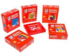 Nikitin-base paquet 5 jeux motif cube uniwürfel carrés briques geowürfel