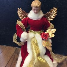 """12"""" Christmas Angel Tree Topper Victorian Style"""