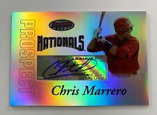2007 Bowman's Best Chris Marrero Prospect Autograph Card AR23