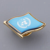United Nations Flag Pin Badge for Man Woman Lapel Badge Decorations Pride