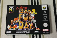 N64 BAD FUR DAY BOX ONLY PAL VERSION NEW NO GAME