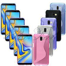 For Samsung Galaxy J6 Plus 2018 J610F Genuine Black Clear Gel Phone Case Cover