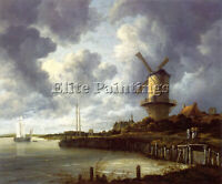 MILL AT WIJK NEAR DUURSTEEDE ARTIST PAINTING REPRODUCTION HANDMADE OIL CANVAS