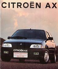 Prospetto/brochure CITROEN AX 07/1991