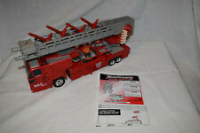 Transformers Optimus Prime Fire Truck Robots in Disguise RID 2001 Complete