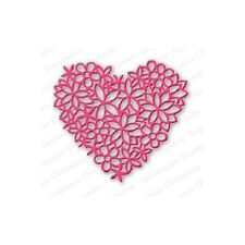 """Impression Obsession DIE054 """"Floral Lace Heart"""" 1 Metal Dieis NEW"""