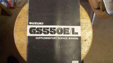 OEM Suzuki Supplement Manual 1980 GS750E GS750L