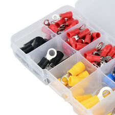102Pcs Assorted Insulated Ring Crimp Terminal  Electrical Wire Connector Kits
