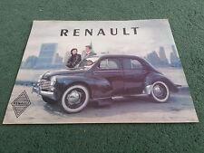 1951 1952 RENAULT 750 - UK COLOUR FOLDER BROCHURE
