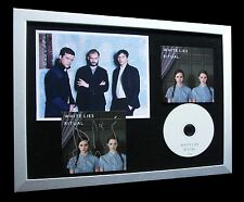 WHITE LIES+SIGNED+FRAMED+BIGGER THAN+RITUAL=100% AUTHENTIC+EXPRESS GLOBAL SHIP!!