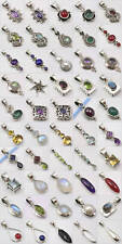 WHOLESALE! 50 SOLID STERLING SILVER STONE PENDANTS!