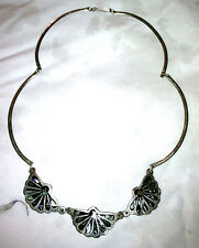 Black Hand Made Copper 18in Cluster Necklace With  Pearl Design