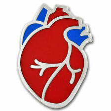 HUMAN HEART MEDICAL ENAMEL BADGE PIN