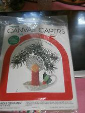 Leisure Arts Canvas Capers Candle Ornament Plastic Canvas Kit NIP