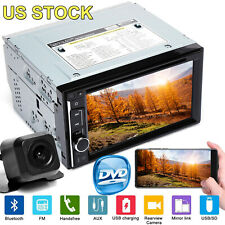 2Din Car Radio Stereo HD Touch Screen CD DVD Player Bluetooth MirrorLink For GPS