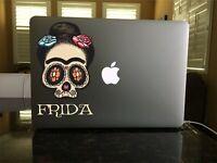30-127 Frida Sugar Skull Dia De Los Muertos Vinyl Window decal