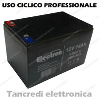 BATTERIA RICARICABILE CICLICA PROFESSIONALE PIOMBO 12V 14Ah 6-DZM-14 6DZM14