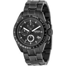 NEW Fossil Mens Decker Chronograph Black IonPlated Bracelet Gents Watch CH2601IE