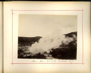 Nouvelle Zélande, Steam Stole Lake  Vintage albumen print, New Zealande  Tirag