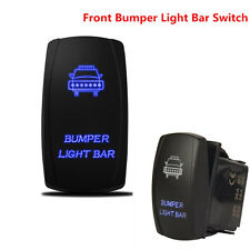 Blue 5 Pins On-Off 12V 20A Switch Backlit Car LED Fog Light Bar for 4x4 Offroad