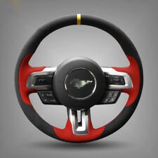 For Ford Mustang Steering Wheel Cover DIY Hand-stitched Car Interior Case custom