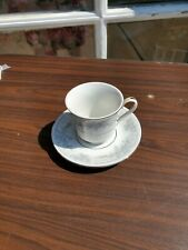 Footed Demitasse Cup & Saucer Set Olivia by LYNN'S CHINA