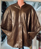 Men's Brown Leather Biker Racer Party Soft Norfolk Leather Centre Size 4XL