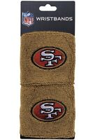 Brand New San Francisco 49ers Wristbands Sweatbands Two Pack Gold NFL