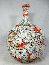 "Well shaped 60´s Italian ""alla moda"" Pottery Fratelli Fanciullacci VASO 35 cm"