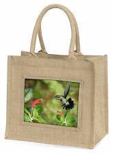 Green Hermit Humming Bird Large Natural Jute Shopping Bag Christmas Gi Ab-95bln