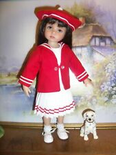 Classic Sailor Dress Set for Effner Little Darling Dolls